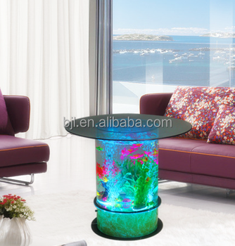 LED Light Table Water Bubble Round Living Room Furniture Design Tea Table