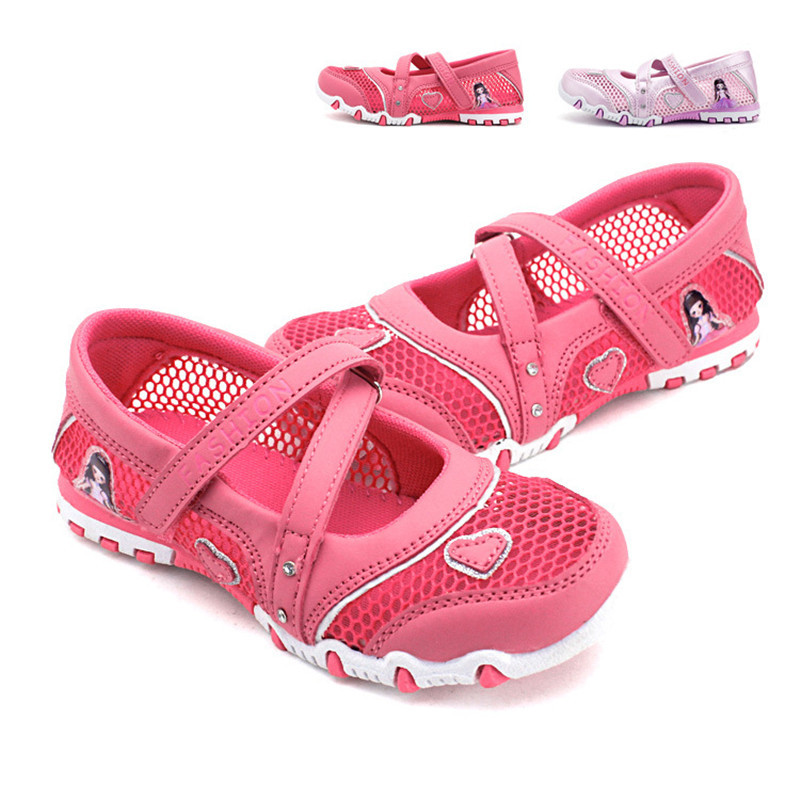 911e3dbdf006a Get Quotations · purple red size 27-36 ankle wrap cut-outs mesh girls beach  sandals shoes