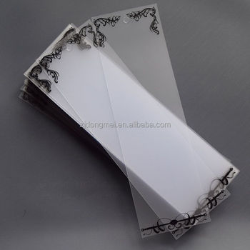 Fashion Decorative Lace PVC Plastic Card
