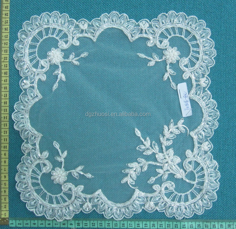 High quality indian embroidery bead flower sequins table cloth design