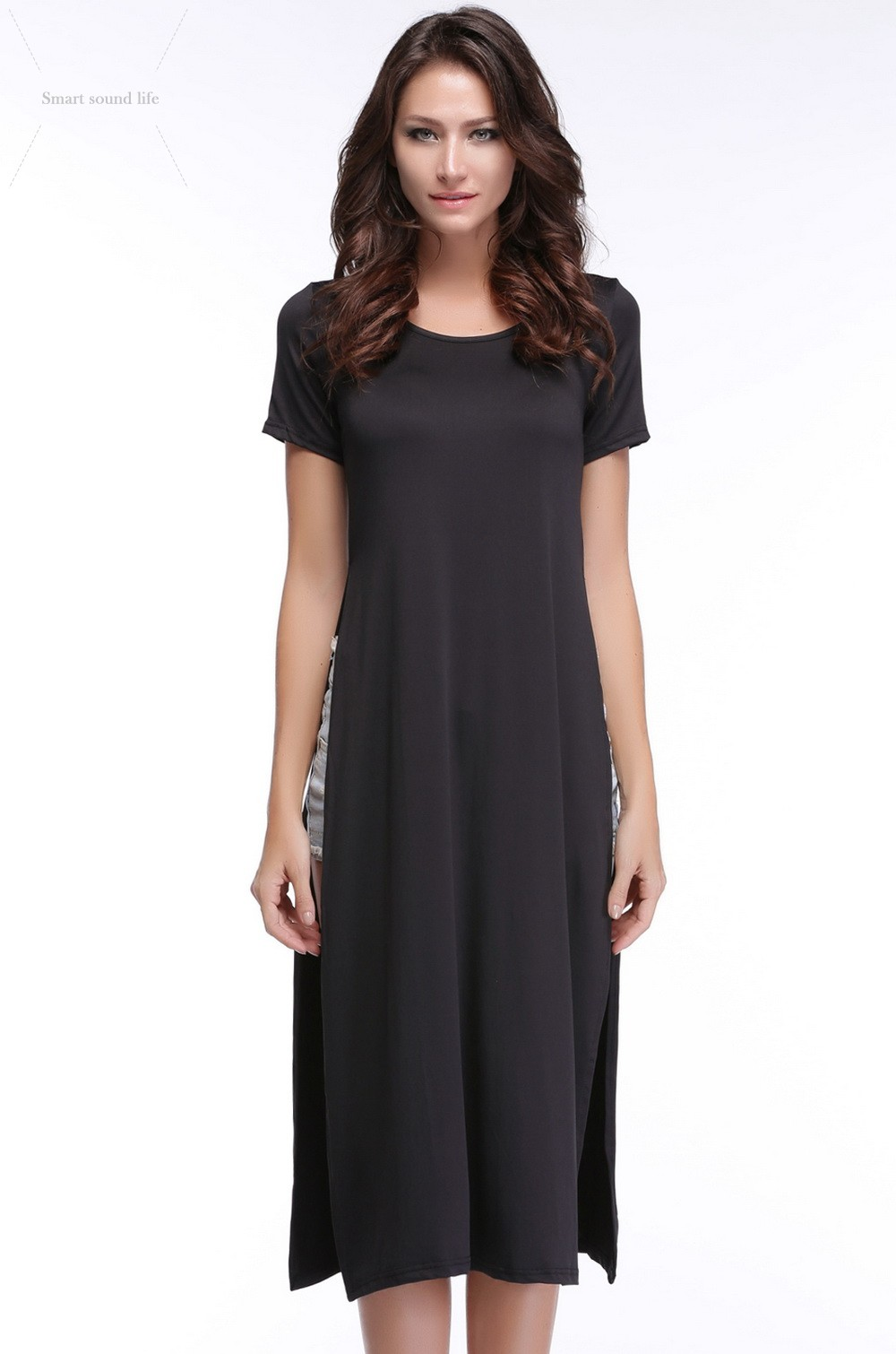 Tee Shirt Maxi Dress Plus Size Bcd Tofu House