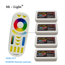 Mi Light 2.4G Mi Light RGBWW Led Remote Controller and 2.4G RGBWW LED Controller for Led Strip Bulb Downlight
