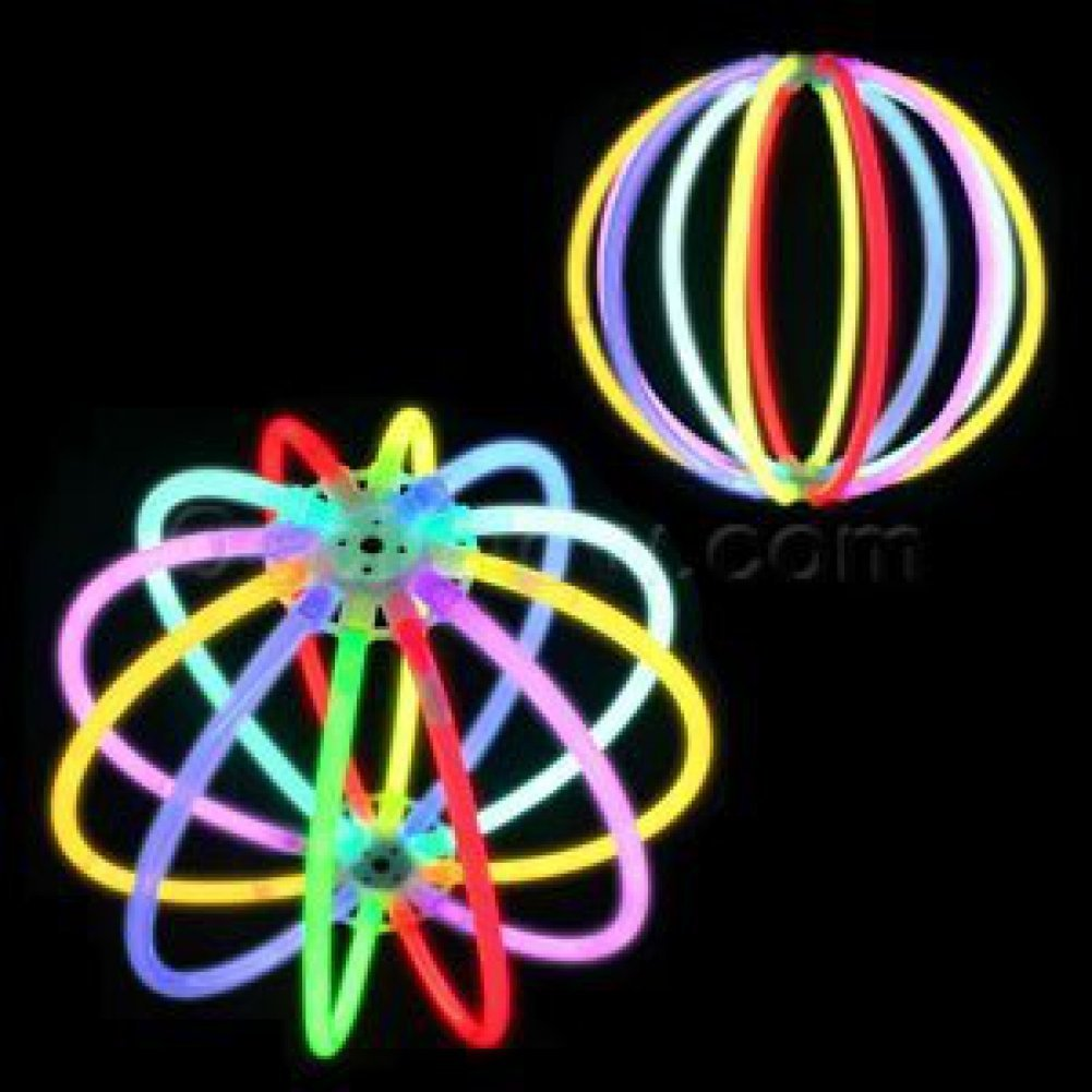 Fun Central D19 1ct 6 Inch Glow Ball, Light Up Ball, Glow Stick Ball, Cool Toys for Kids - Rave and Glow in the Dark Party - Multicolor