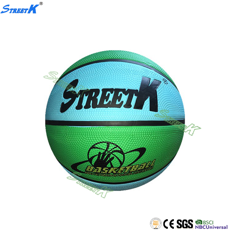 streetk brand High quality rubber basketball size 7 wholesale different brands of basketballs