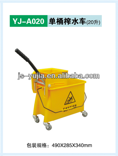 double mop bucket with wringer