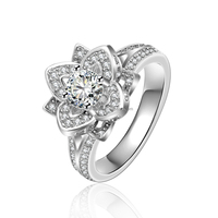 LYR0029 summer lady Lucky flower value 925 silver ring