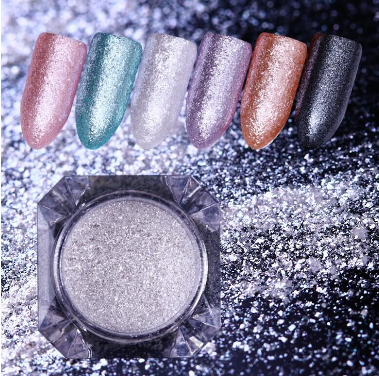rainbow iridescent powder with mica powder pigment cosmetic for glitter acrylic powder