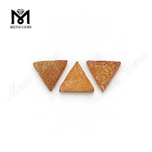 New Druzy 12*12mm Triangle Amber Color Natural Druzy Agate Stone MG-NA04