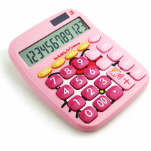 Scientific electroinc solar desktop calculator with customized cute design