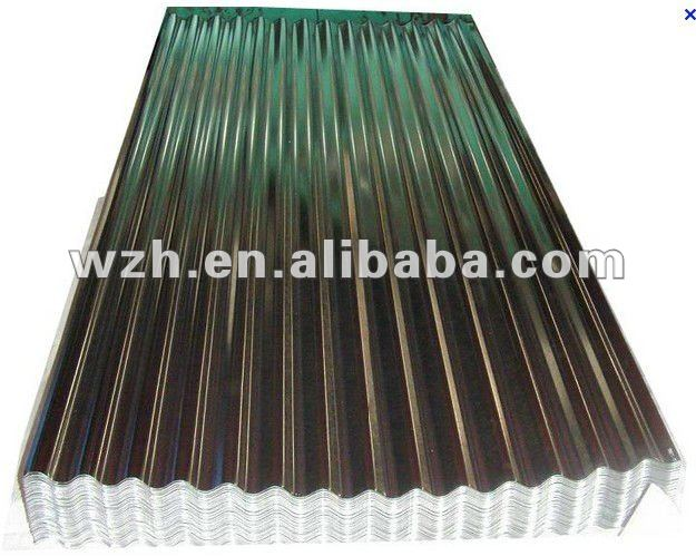 Zinc coated metal plates for roofs
