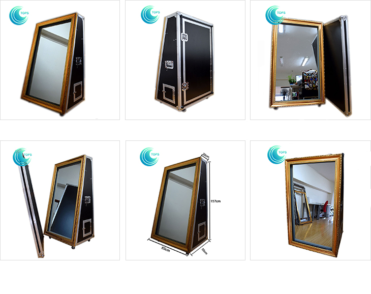 Customized Professional Selfie Magic Mirror Photo Booth Machine With