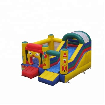 Colorful 0.55mm PVC  children outdoor games inflatable bouncer combo slide