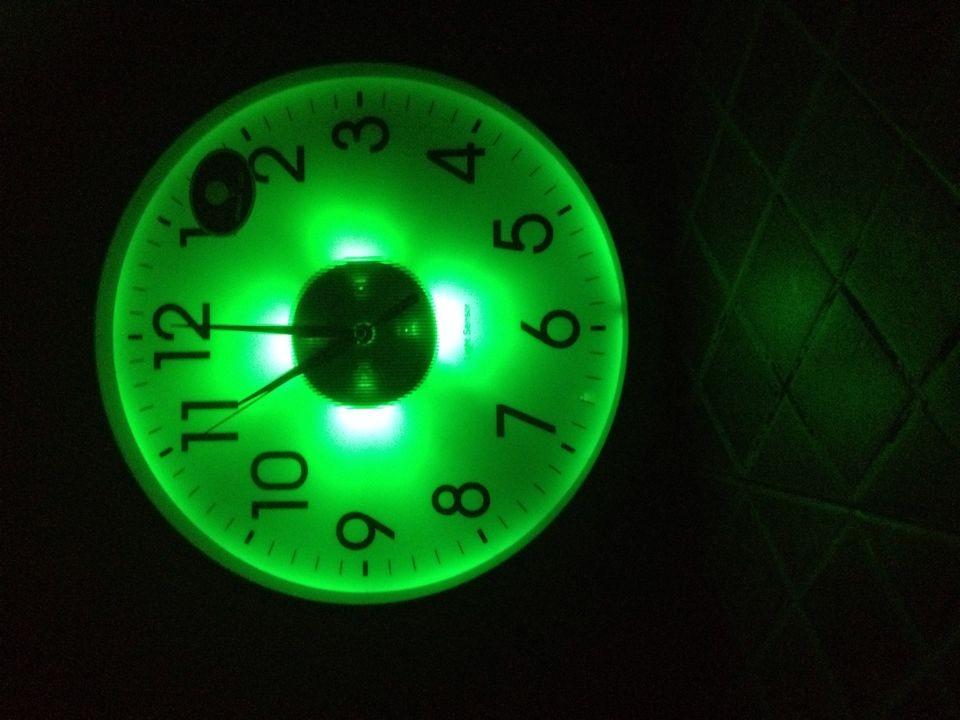 Light Sensor Wall Clock Light In The Dark Clock Office