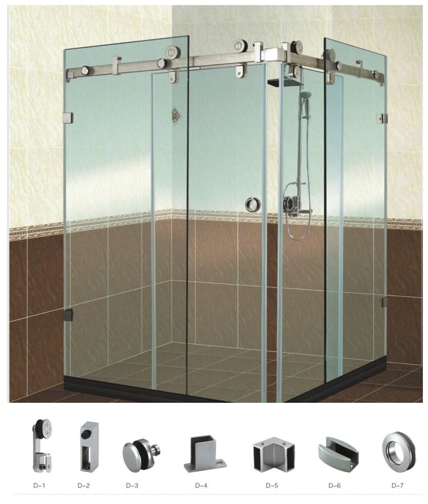 attrative edelstahl rahmenlosen schiebet ren dusche hardware geh use f r 90 grad doppelt r ecke. Black Bedroom Furniture Sets. Home Design Ideas