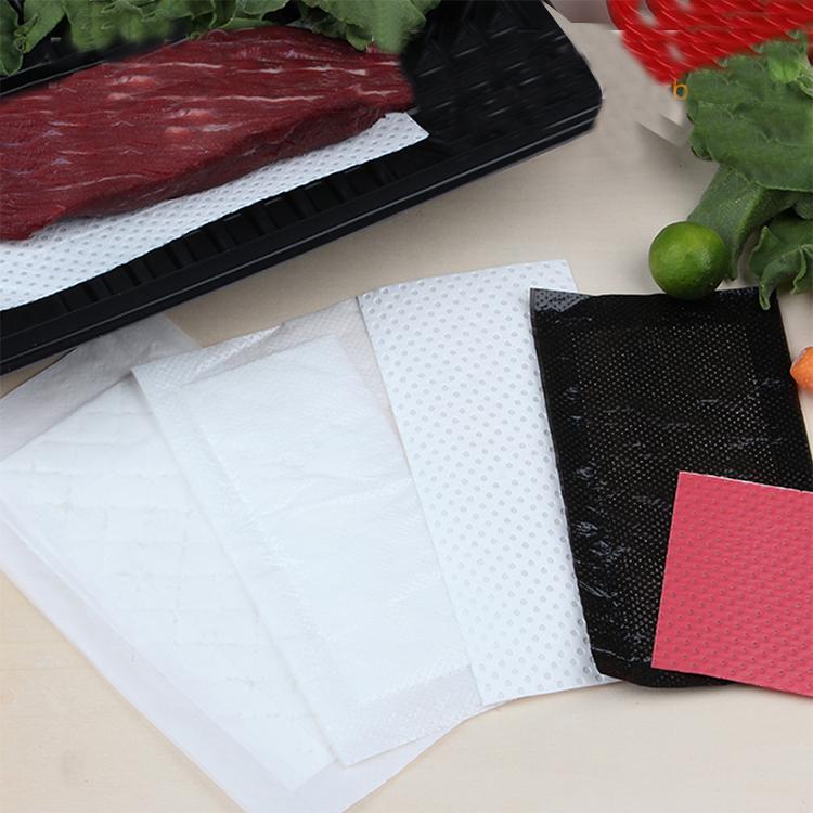 Almofada absorvente do alimento conveniente do produto comestível da cozinha para a embalagem da carne