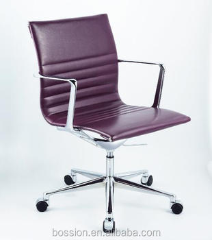Icf Una Leather Mid Back Office Chairs Replica