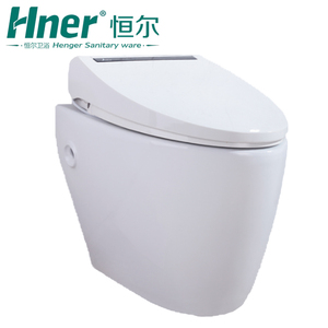 Intelligent Sanitary Ware Ceramic One Piece Toilet Sensor Automatic Flush China Siphon Toilets With Built-In Bidet