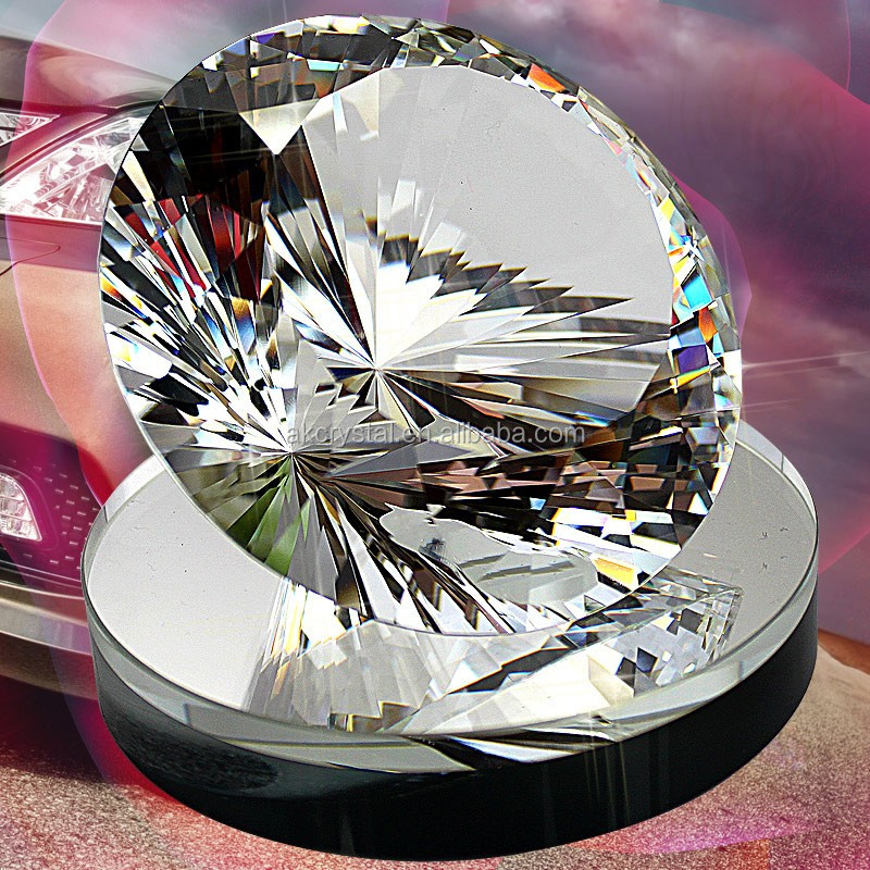 Wholesale machinery making beautiful price large crystal diamond/ colorful crystal glass diamonds