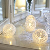 Soft, romantic and ever so shabby chic white crochet lace ball fairy led battery operated string light 3aa for home decorating