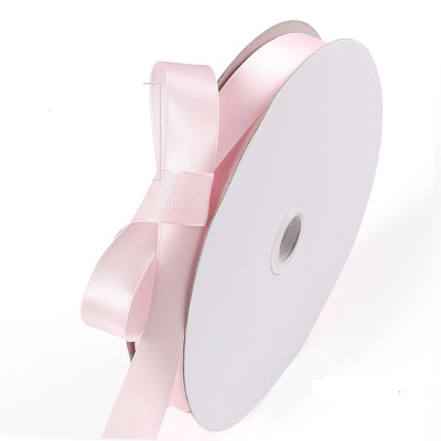 Custom (High) 저 (Quality 싼 Price Single Face Polyester Satin Soild Color Pink Ribbon