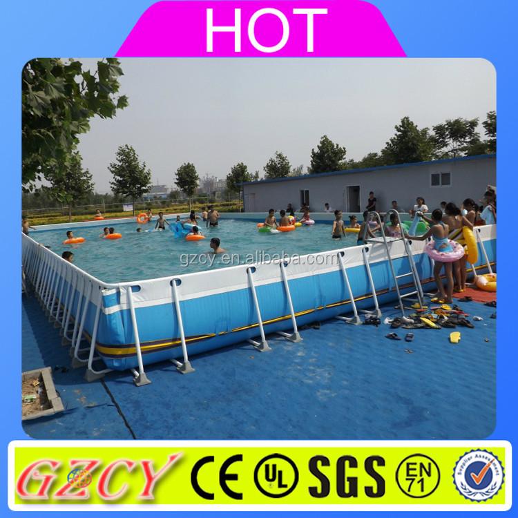 Above Ground Pvc Frame Pools Pvc Pipe Steel Frame Pool - Buy Frame ...
