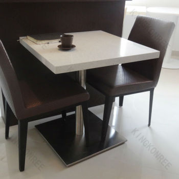 Solid Surface Kfc Dining TableTwo Seater Table And Chair Set