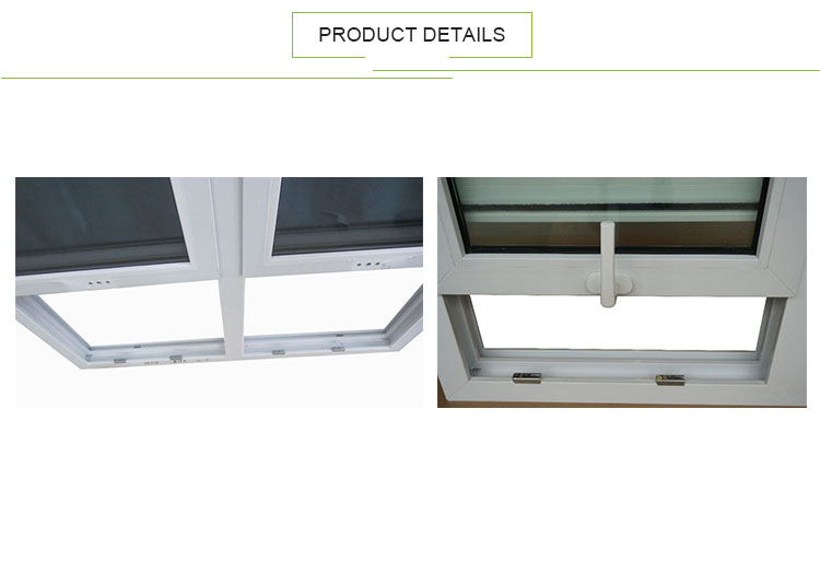 10 Year Warranty Double Glazed PVC Plastic Single Hung Sash Window