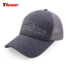Custom logo promotional high quality colorful polyester cotton 6 panel mesh back hat running trucker baseball cap