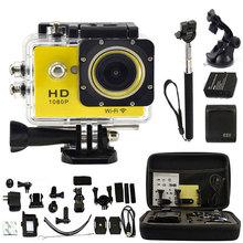 Kebo Monopod + 2.0″  LCD WIFI 1080P HD Sport Camera Action Camera Car DVR Recorder Video Waterproof W9 as SJ4000 SJ5000 SJ6000