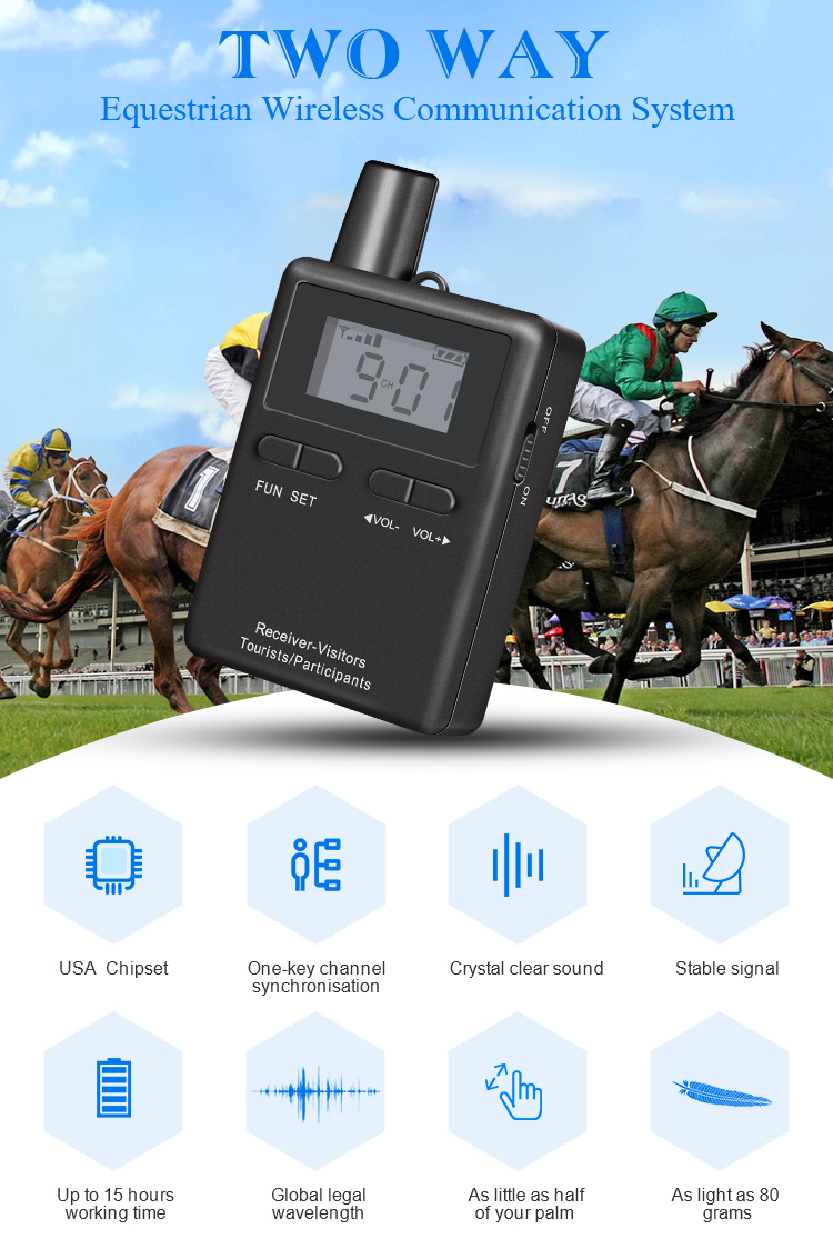 Best price decreased audio guide system radio for horse riding