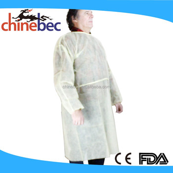 Hot Selling Disposable Nonwoven Men's Smock/Nylon Smock/Coverall