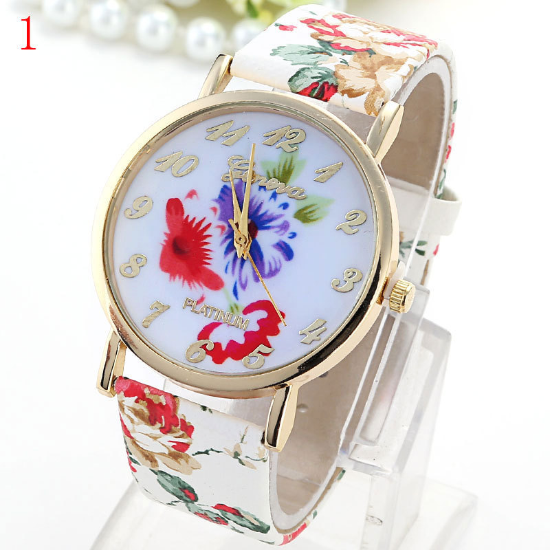 Get Quotations · Best Brands Cheap Watches In Geneva Flowered Watches For  Women Birthday Gifts For Girls Designer Watches 200dc41818