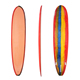 Mini long pu surfboards Fiberglass surfing Longboard Customized minimal Surfboards