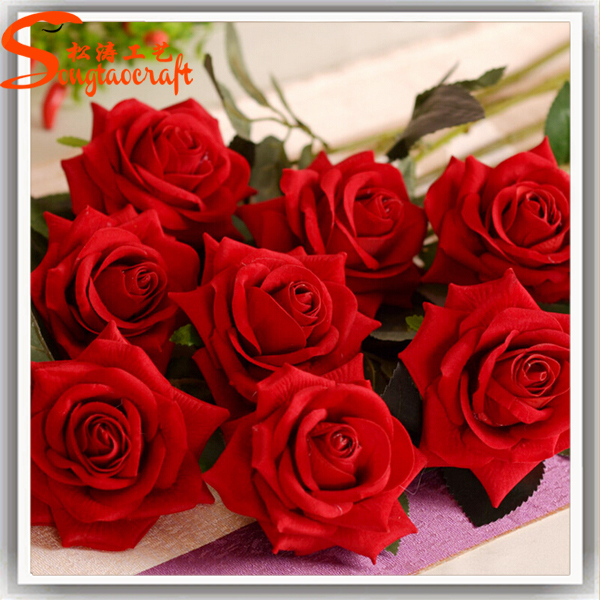 Factory Whole Artificial Red Rose Flowers