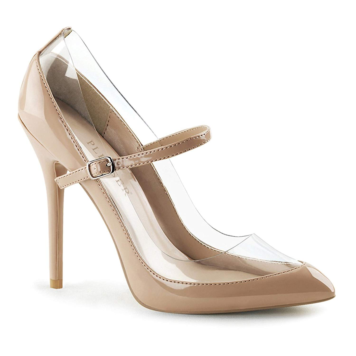 885fd72bd1cd Get Quotations · Summitfashions Womens Nude Color Shoes Pointed Toe Pumps  Mary Jane High Heels 5 inch Heels