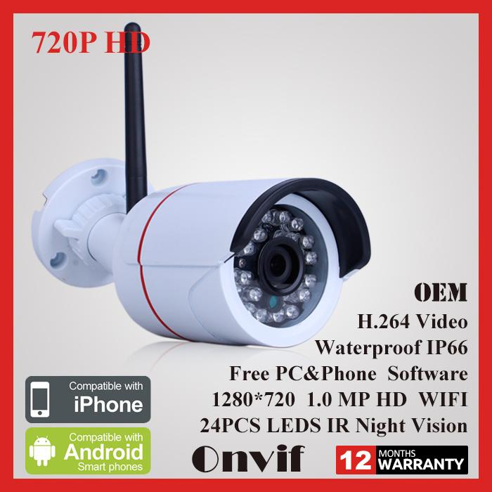 Video Surveillance HD Mini IP Camera WiFi 720P ONVIF Wireless Camara IR  Night Vision Outdoor Security Camera CCTV System
