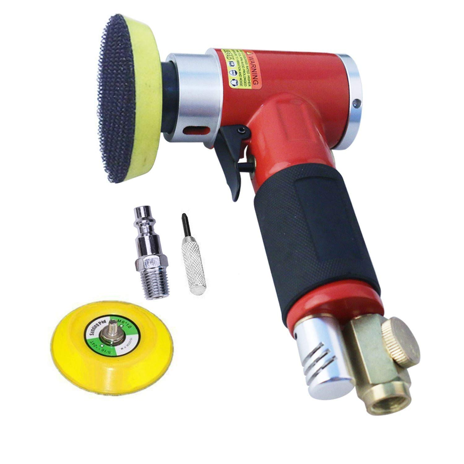 The Cheapest Price 2inch 3inch Mini Air Sander Kit Pad Eccentric Orbital Dual Action Pneumatic Polisher Polishing Buffing Tools For Auto Body Wor Durable Service Power Tool Accessories