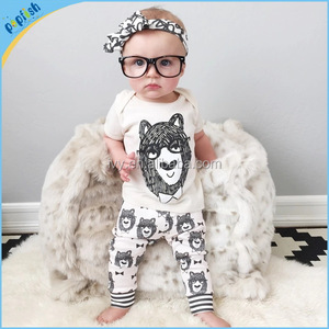 Summer Season Fashion Printed Fancy Boy White Color 1 year old baby clothes