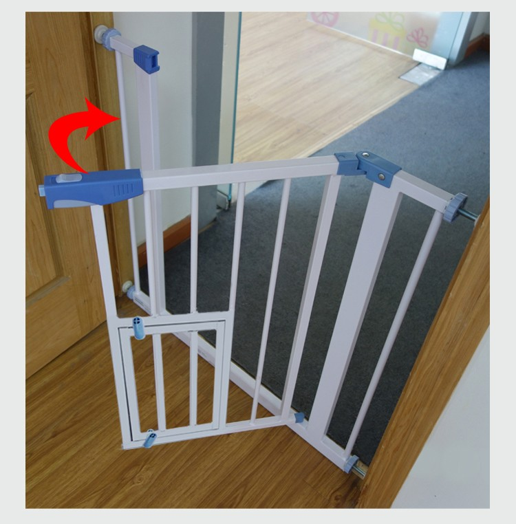 Door Barrier Portable Pet Gate Metal Dog Fence Buy Metal