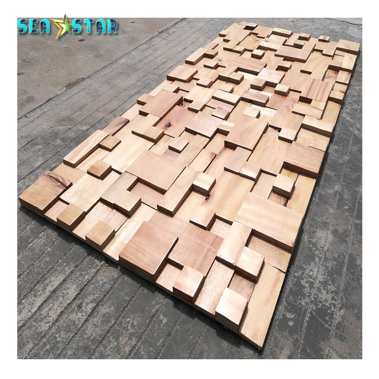 Factory Price Rustic Style Wall Art Lumber Teak Wood Board Wooden House 3d Tile Decor Home Buy Wooden House Decorative Wallpaper 3d Tile Decor Home