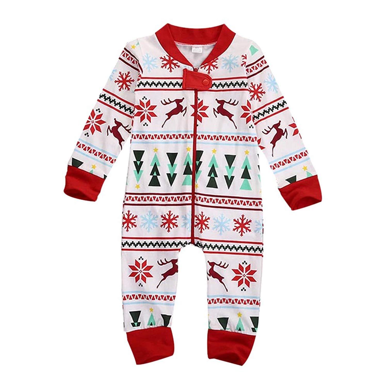 21042235e3 Get Quotations · Bateer Christmas Family Pajamas Sets Parent-child  Christmas Family Matching Pajamas Xmas Sleepwear Set