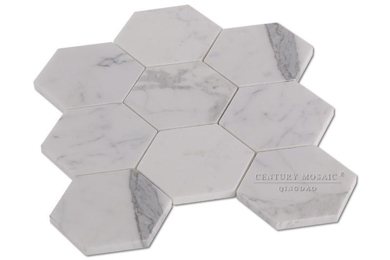 """4"""" clacatta wit marmer tegel zeshoek badkamer keuken mozaïeken ..."""