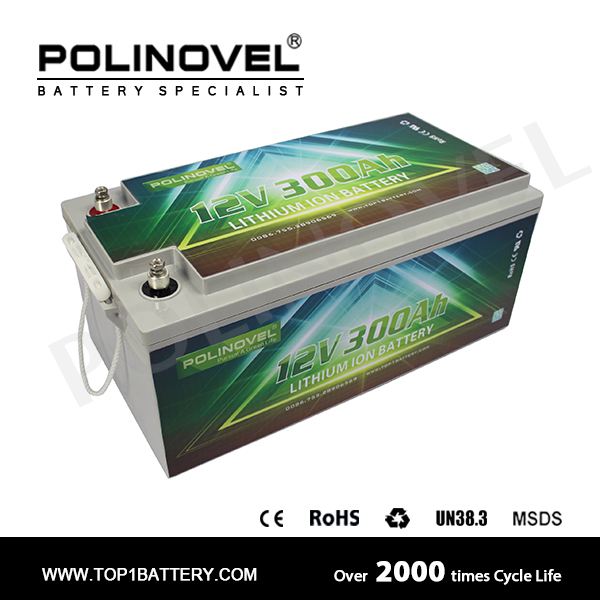 Maintenance free lifepo4 solar battery 12v 300ah