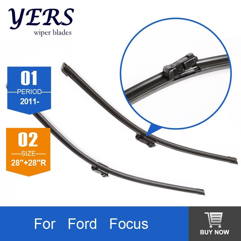 windscreen wiper blades for ford focus from 2012 onwards 28 28 r fit push button type wiper. Black Bedroom Furniture Sets. Home Design Ideas