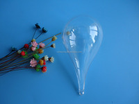 110mm Clear Plastic Acrylic Fillable Teardrop Shaped Ornaments