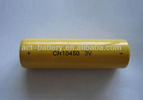 3V CR10450 AAA size 700mAh Cylindrical cell lithium primary battery li-MnO2