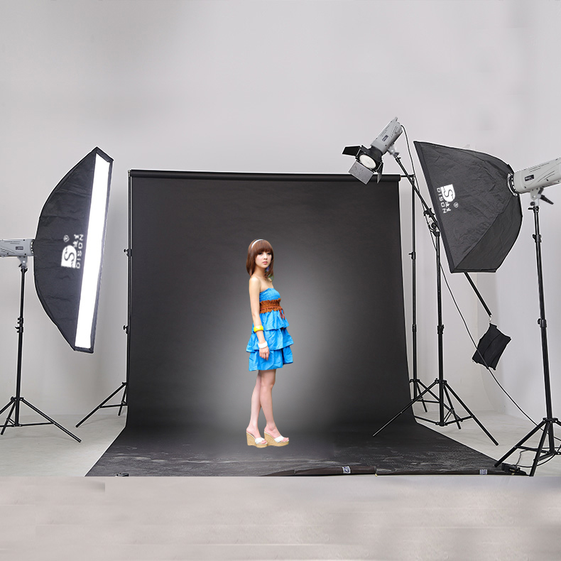 Photo flash with soft box light stand portable light studio kit