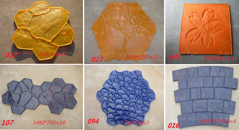 3 Years Warranty Concrete Stencil Road Floor PU Stamped Molds In Moulds