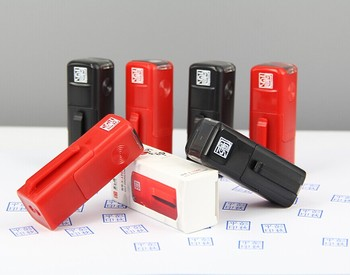 Self Inking Type Seal Stamp Rubber Material Signature