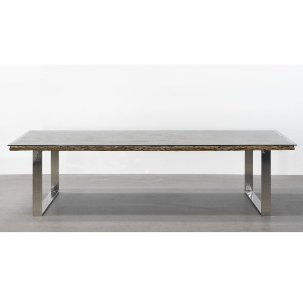 Metal dining table large tables tom lederer studio for Steel dining table design